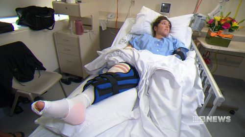 She is now facing three months off work to recover. (9NEWS)