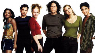 Gabrielle Union, Andrew Keegan, Julia Stiles, Heath Ledger, Larisa Oleynik and Joseph Gordon-Levitt
