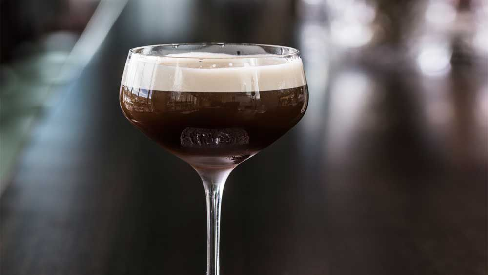 Salted coconut espresso martini