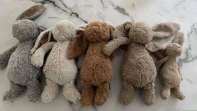 Mum shares photo of her kids bunnies before a strip wash
