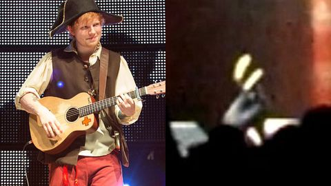Watch: Ed Sheeran face-plants on stage during Taylor Swift tour