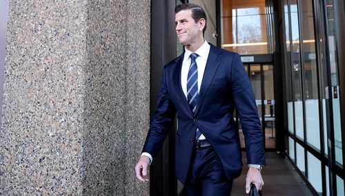 Ben Roberts-Smith leaves Federal Court in Sydney this week.