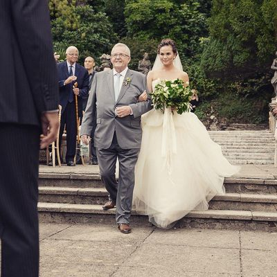 <p>Chrissy Teigen and John Legend ( not pictured), 2013</p> <p>The bride wore - Vera Wang</p>