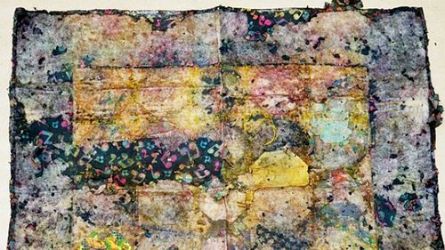 The handmate quilt found with the girl's remains. (Supplied)