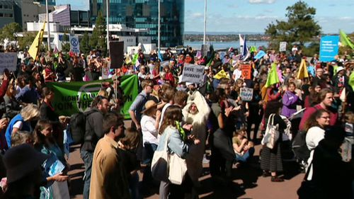 Climate change protests disrupted WA Parliament today.