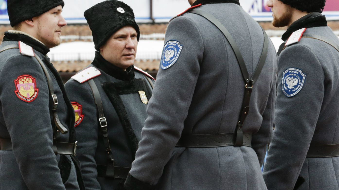 Russian Cossack soldiers