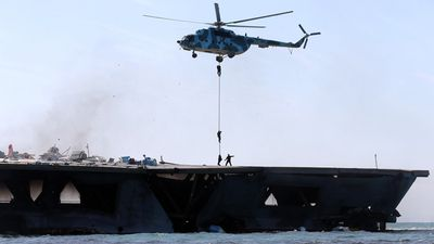 Nimitz-class carriers are the centerpiece of US naval forces. (AFP)