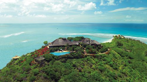 Before the damage: Sir Richard Branson's luxury home, on Necker Island, in the Caribbean. (AAP)
