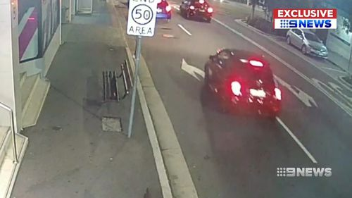 In the CCTV footage however, it can be seen being driven around the streets of  Sydney.