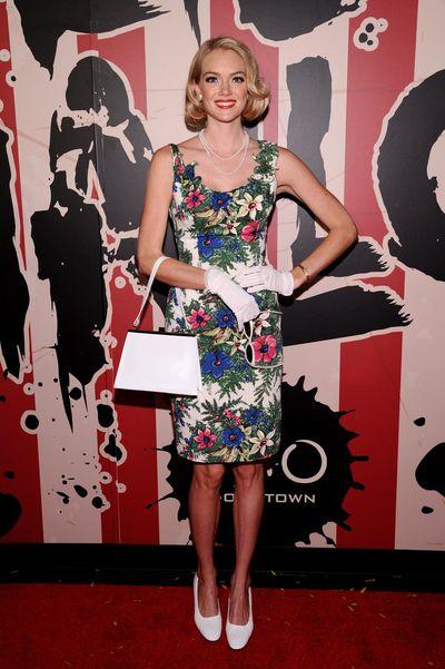 Victoria's Secret model Lindsay Ellingson as Mad Men's Betty Draper