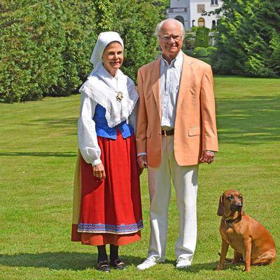 King Carl XVI Gustaf and Queen Silvia of Sweden celebrate midsummer, June 2020