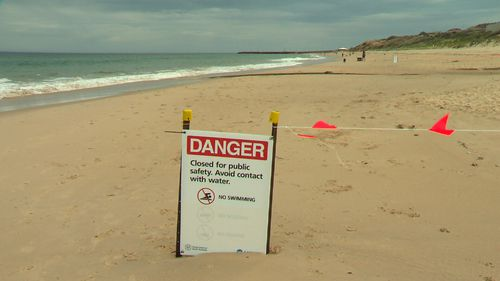 Christies Beach will remain closed after toxic sludge was confirmed in the waterways.