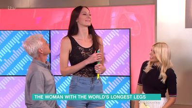Russian model has world's longest legs