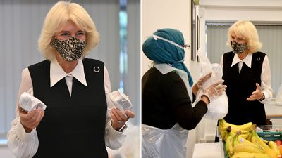 Duchess of Cornwall visits London food charity, October 2020