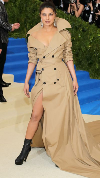 """<p>In a woman's wardrobe arsenal the essential weapon is the trench coat. At the <a href=""""https://style.nine.com.au/2017/05/02/08/15/met-gala-red-carpet-2017/3"""" target=""""_blank"""">Met Gala</a>, Priyanka Chopra deftly demonstrated the sex appeal of Ralph Lauren's variation, worn with little except confidence.</p> <p>The jacket rose to prominence in the first World War, replacing heavy woolen versions but was adopted by women when Hollywood stars such as Katharine Hepburn and Marlene Dietrich embraced its versatility.</p> <p>Here are the top 10 trenches this season to keep you winning the style wars.</p>"""