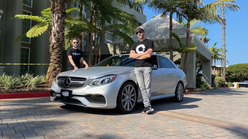 Arne Toman, Douglas Tabbutt and Berkeley Chadwick say they started their drive on November 11 at 12.57am at the Red Ball Garage in Manhattan and ended at the Portofino Hotel in Redondo Beach in 27 hours, 25 minutes, beating the previous record of 28 hours and 50 minutes.
