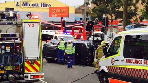 One person taken to hospital after 4WD rolls in Sydney crash