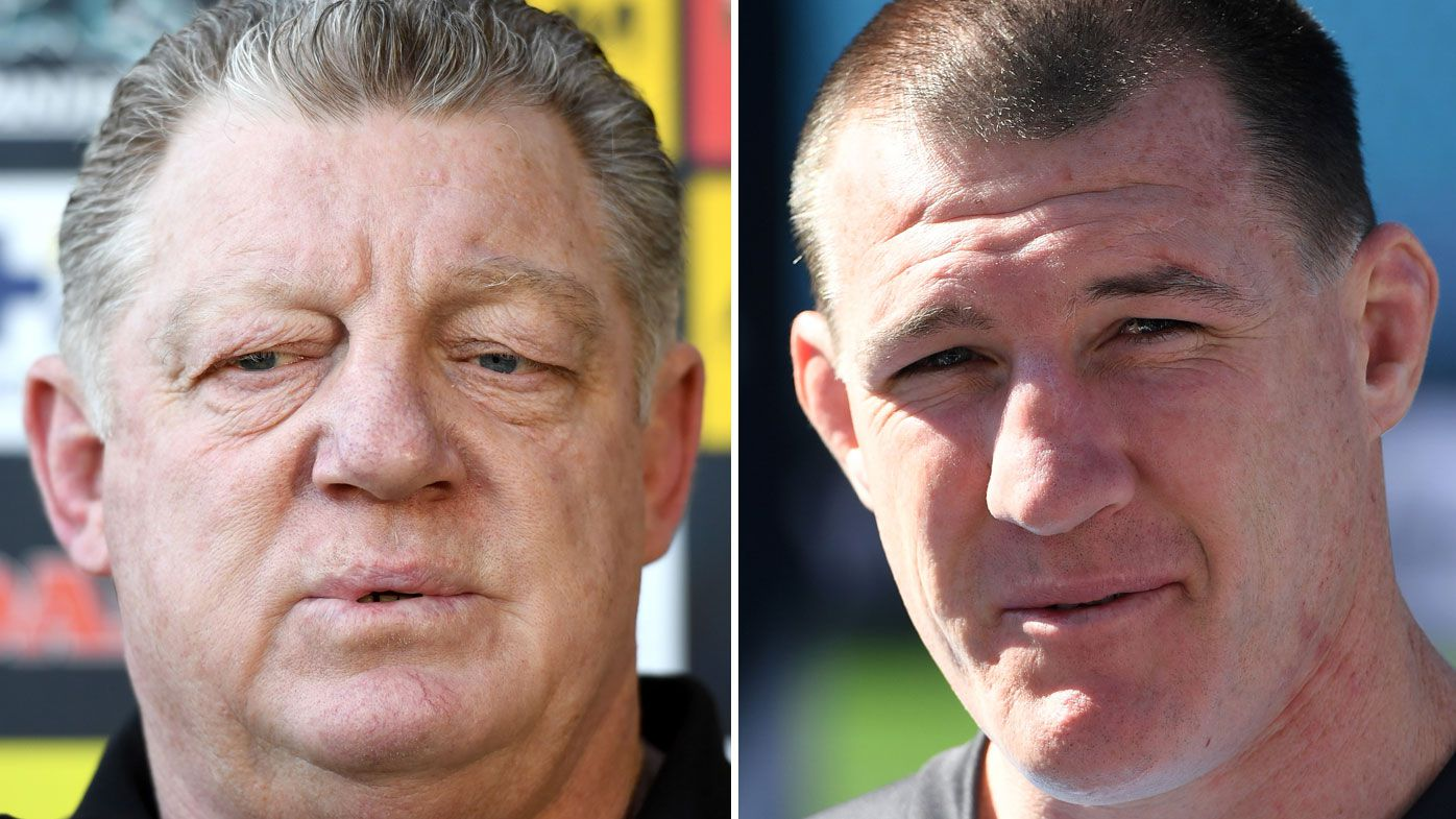 Cronulla captain Paul Gallen has bone to pick with Phil Gould on Nine's 100% Footy
