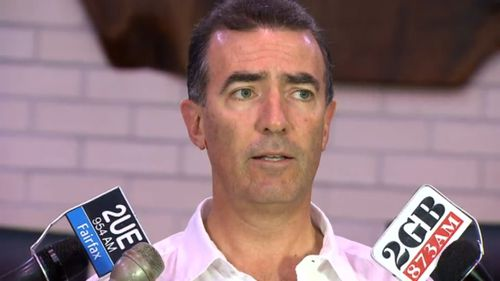 Phillip Hughes' manager, James Henderson has acted as the family spokesperson. (9NEWS)