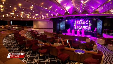 Blanc de Blanc has a in-ship theatre with high-end entertainment for passengers.