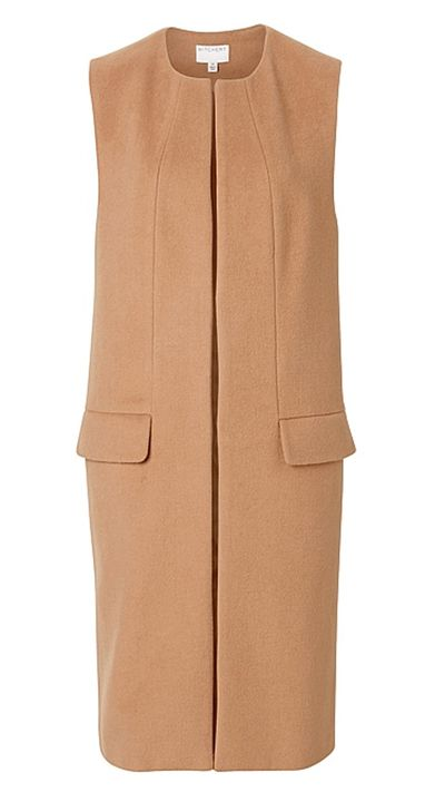 """<a href=""""http://www.witchery.com.au/shop/woman/clothing/jackets-and-coats/60179076/Sleeveless-Coat.html"""" target=""""_blank"""">Sleeveless Coat, $249, Witchery</a>"""