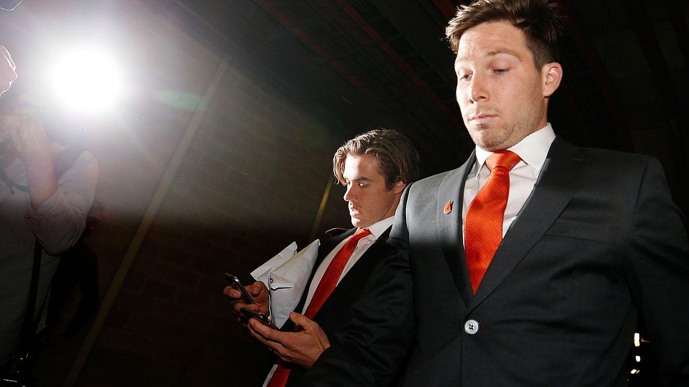 AFL legend, GWS Giants board member Jimmy Bartel calls Toby Greene ban 'manifestly unjust'