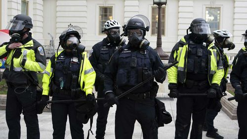 Capitol police in riot gear.