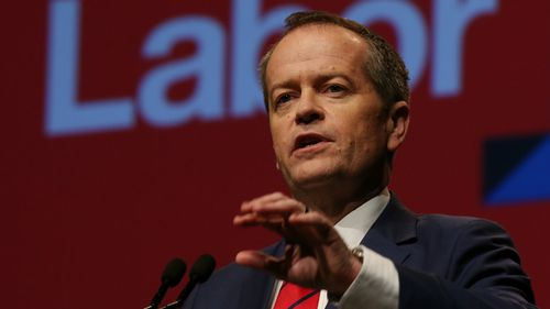 Labor leader Bill Shorten at the ALP conference today. (AAP)