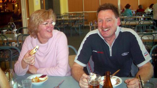 Helen Milner with husband Philip Nisbet in 2006.