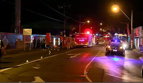 The crash happened just after 2.20am. (9NEWS)