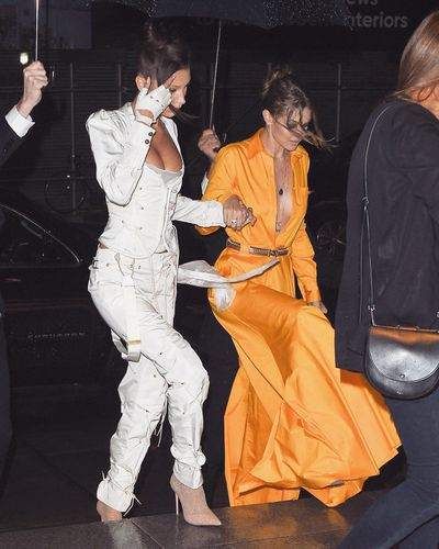 "<p>Gigi and Bella Hadid are nailing New York Fashion Week for 2018. The high-flying fashion moguls didn&rsquo;t hold back in the sartorial department when they stepped out for the Business of Fashion&rsquo;s Gala Dinner.<br /> <br /> <a href=""https://style.nine.com.au/2018/02/12/16/25/gigi-hadid-body-shamers-new-york-fashion-week-twitter"" title=""Gigi"" draggable=""false"">Gigi</a>, 23, and <a href=""https://style.nine.com.au/2018/09/09/18/34/bella-hadid-harpers-bazaar-icons-party"" title=""Bella"" draggable=""false"">Bella</a>, 21 were bold and busty in two very different styles, but both boasting generous necklines and svelte waists.<br /> <br /> Arriving at the Hotel Brooklyn Bridge, Gigi lit up the night in a canary-yellow jumpsuit by Brandon Maxwell which she paired with nude patent pumps from Le Silla.<br /> <br /> But it was the pink champagne encased in acrylic glass that really made the young model&rsquo;s outfit pop. The bottle was one of many bespoke accessories used in the<a href=""https://style.nine.com.au/2018/09/10/11/39/lily-aldridge-rocks-runway-five-months-pregnant"" title="" Brandon Maxwell fashion show"" draggable=""false""> Brandon Maxwell fashion show</a> recently, for which the Hadid sisters walked the runway.<br /> <br /> Meanwhile, Gigi&rsquo;s baby sis, Bella took grunge sports luxe to a whole new level.<br /> <br /> The youngest Hadid sister gushed spunk in a sexy Sporty Spice- style getup by Andreas Kronthaler for Vivienne Westwood. Bella added a touch of sparkle with glittery sock heels from Le Silla. <br /> <br /> This isn&rsquo;t the first time Gigi and Bella have made jaws drop with their savvy style. </p> <p>Scroll through to see all the times the Hadid sisters have flaunted their fashion flair together.</p>"