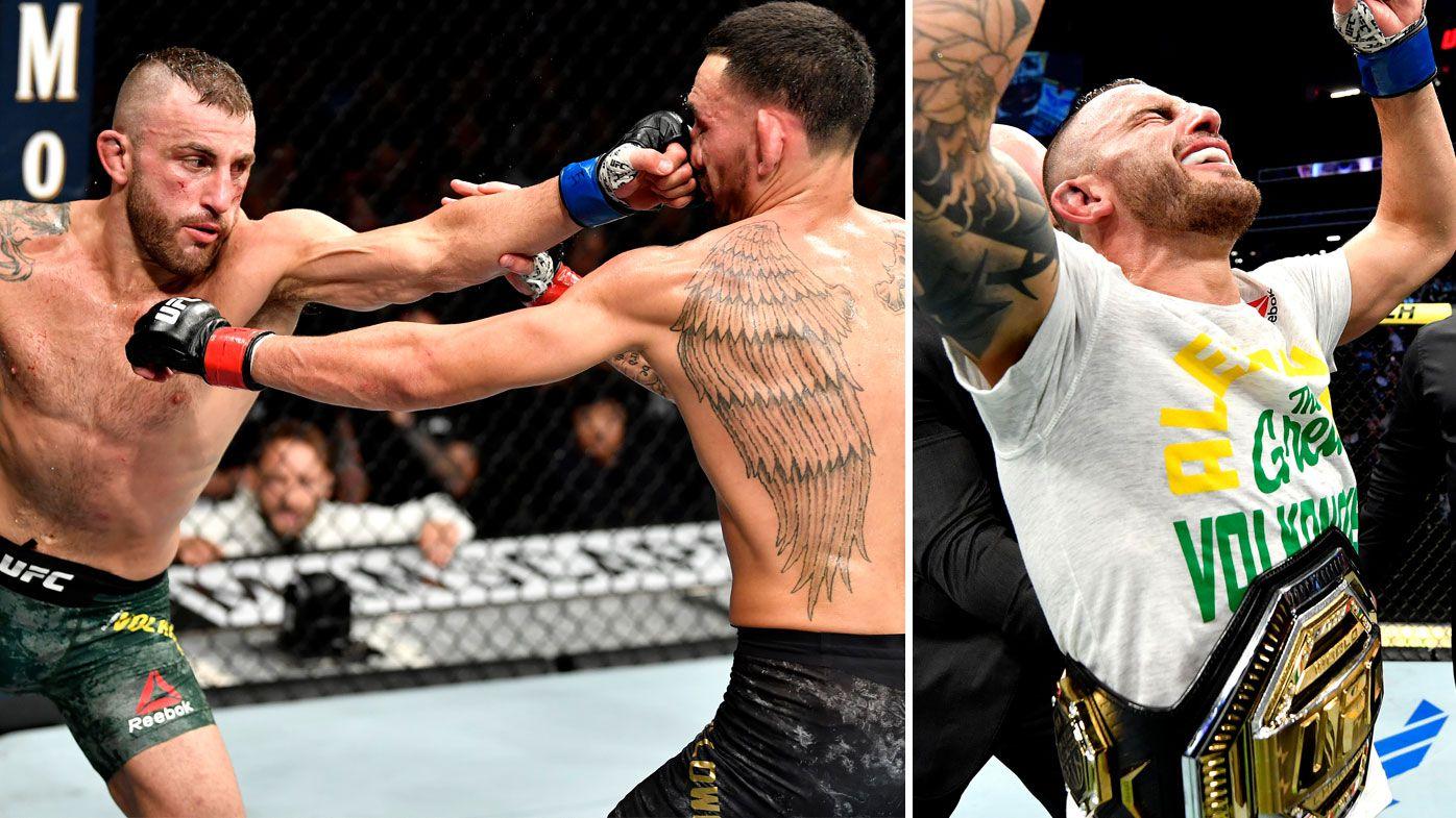 Alexander Volkanovski downs Max Holloway to claim UFC featherweight title