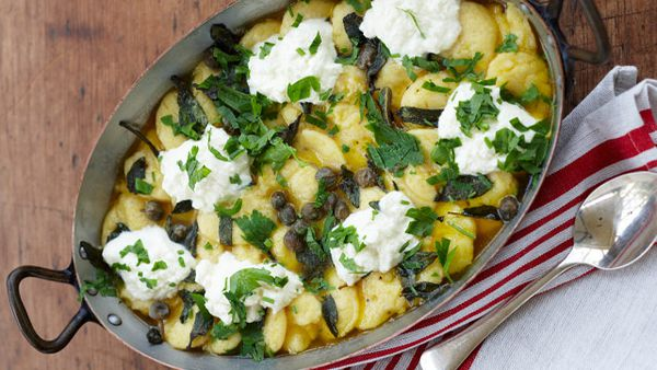 Maggie Beer's semolina gnocchi with capers and curd