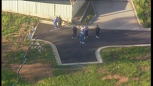 The man's body was found at 1pm, with police on the scene in Rosemeadow.