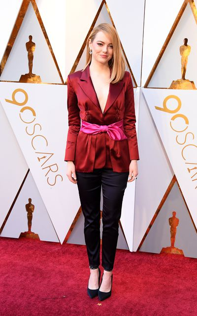 Actress Emma Stone in Louis Vuitton