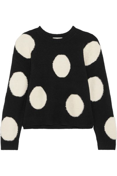 "<a href=""https://www.net-a-porter.com/au/en/product/929381/Alice_and_Olivia/gleeson-intarsia-wool-sweater"" target=""_blank"" draggable=""false"">Alice + Olivia Gleeson intarsia wool sweater</a>, $490.05<br>"