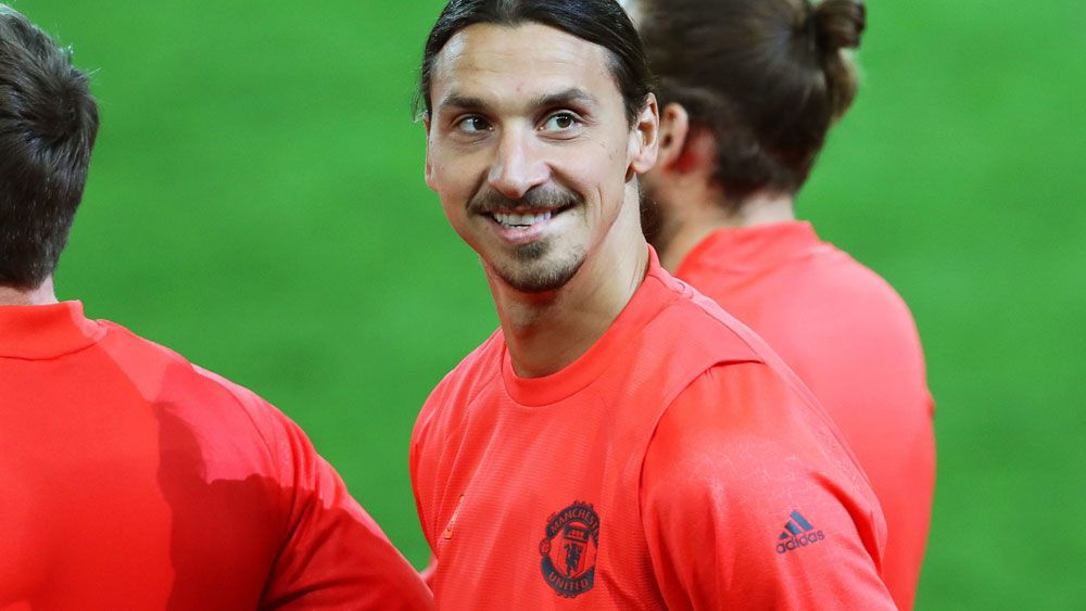 Manchester United boss Jose Mourinho is happy with Zlatan Ibrahimovic's effort thus far. (AAP)