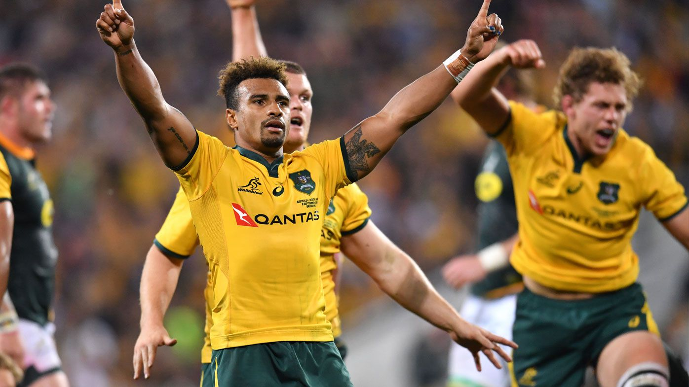 Will Genia celebrates with Wallabies