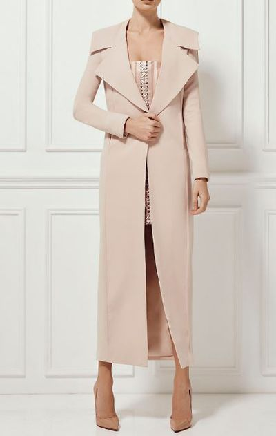 "<p><a href=""http://www.mishacollection.com.au/e-store/jackets-coats/gianna-jacket-nude.html"" target=""_blank"">Misha</a> Gianna coat, $360 for pre-order. </p>"