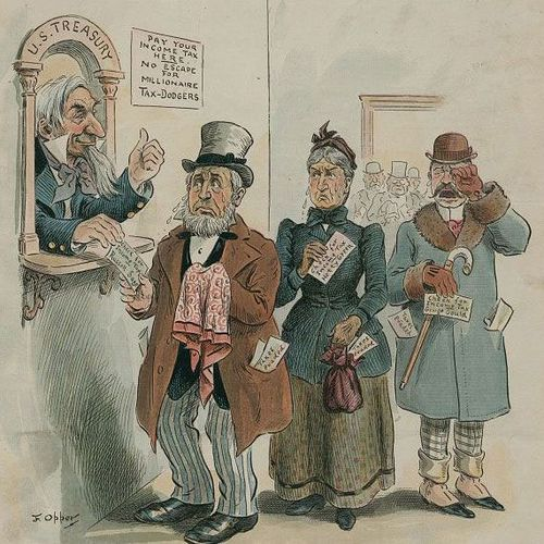 A cartoon, appearing on the cover of 'Punch' in 1895, shows Green flanked by tycoons Russell Sage and George J. Gould.