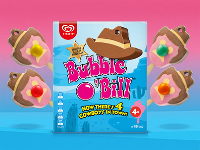 Streets Bubble O'Bill ice-cream now comes in a four pack for the first time