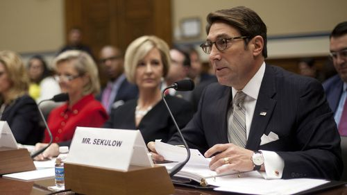 Donald Trump's lawyer Jay Sekulow testifies before Congress. (AAP)