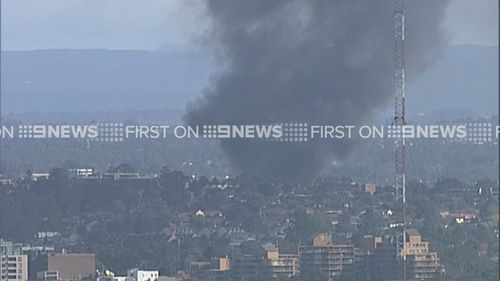 The smoke is visible across the city. (9NEWS)