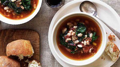 "<a href=""http://kitchen.nine.com.au/2016/05/16/15/48/white-bean-and-rainbow-silverbeet-soup"" target=""_top"">White bean and rainbow silverbeet soup</a>"