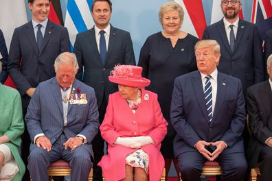 Prince Charles receives a scolding from the Queen for joking around