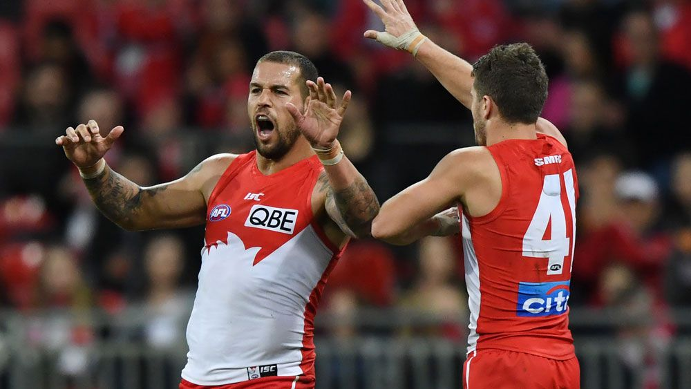 Lance Franklin and the Swans enjoyed a good win over GWS Giants. (AAP)