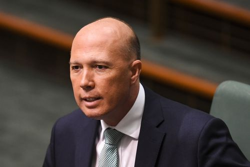 Home Affairs Minister Peter Dutton is being accused of a third au pair claim. (AAP)