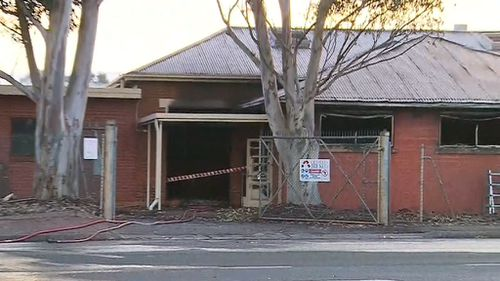 Most of the building was completely destroyed by the blaze (9NEWS)