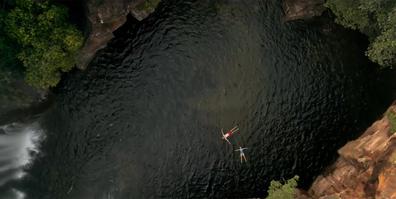 Hamish Blake and Zoe Foster-Blake at Florence Falls, Litchfield National Park