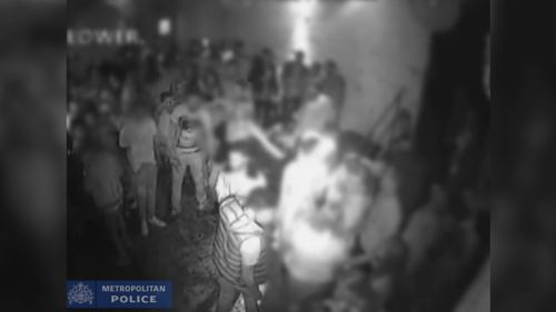 Footage of the acid attack has been released by police.
